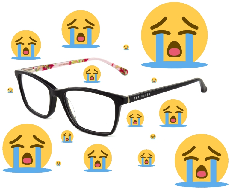 Emoji-Crying-Ted-Baker-Glasses-Frams-Floral-Afro-Glory-