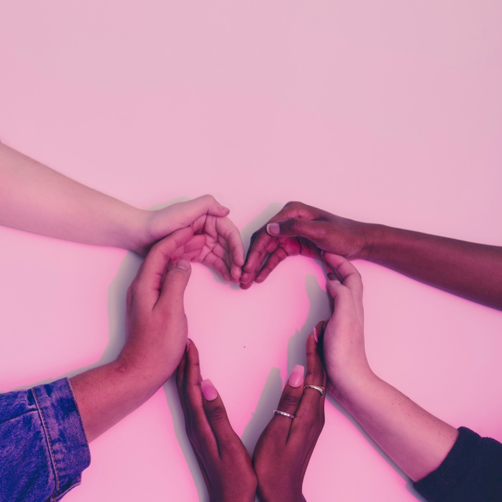 hands-diverse-together-love-shape-afro-natural-hair-blogger